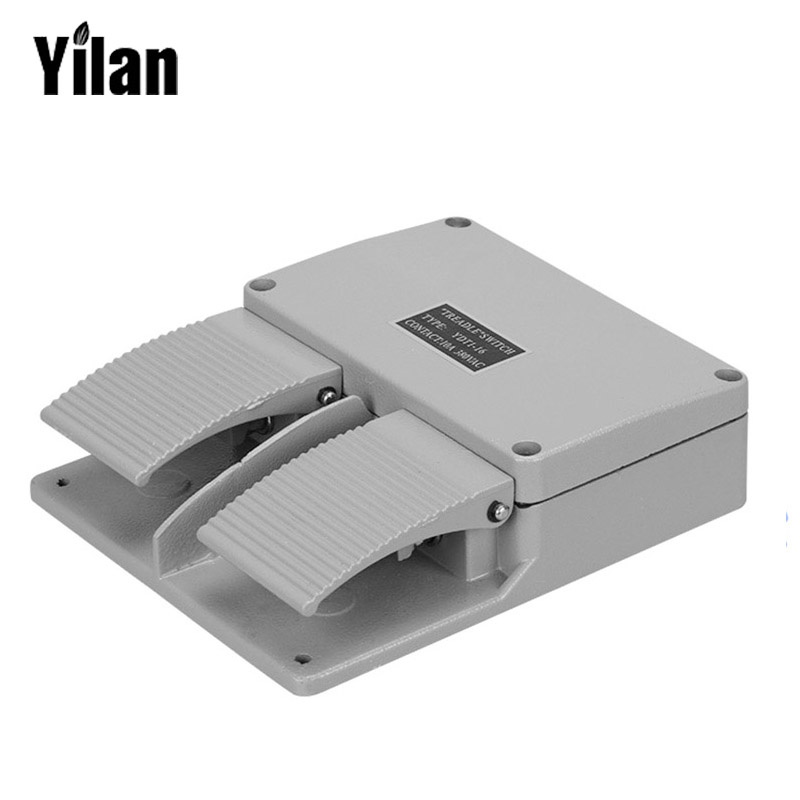 YDT1-16 Foot Switch Pedal Foot Control Switch 380V 5A Double Pedal Use For Bending Machine Punch wholesale price foot control pedal for welding machine