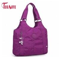 TEGAOTE Топ-ручка сумка на плечо роскошные сумки женские сумки дизайнерские нейлоновые пляжные повседневные сумки-тоут женский кошелек Sac Femme ...