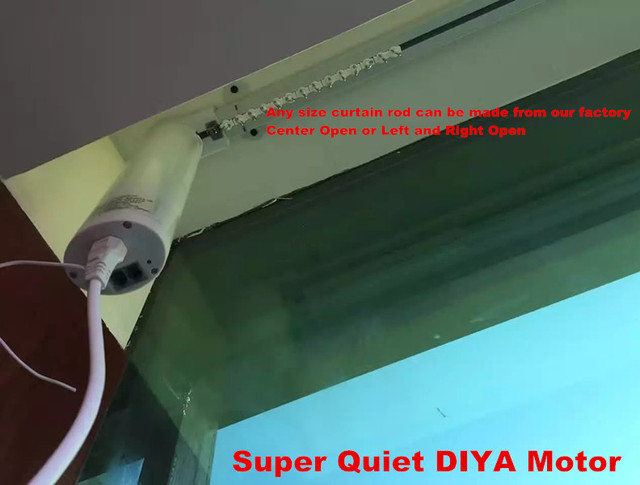 Free Timer And Motorized Drapery Remote Control Electric Curtain Track With  Free Price Wall Brackets