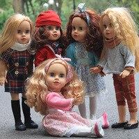 Fleta 18 inch American girl doll series DIY toy children / birthday gift 45CM long hair naked princess doll birthday Gift
