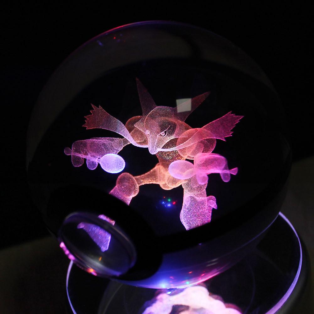 Dragonite 3d Crystal Ball Pokemon Go Light Glass Ball