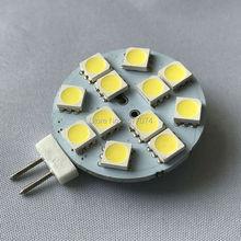 2w led warm white led light  G4 12 leds DC12V 2W Desk Wall Lamp Night Light 220LM LED Bi-pin Lights 1PCS JTFL164-1