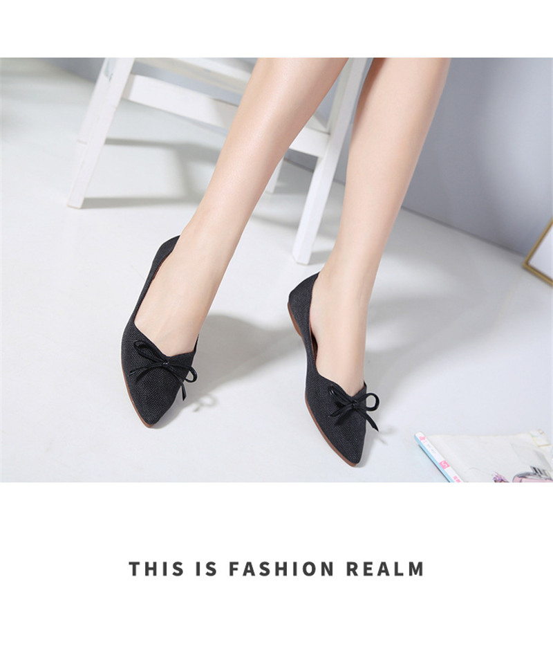 Women Ballerinas Flats Fashion Bowtie Shallow Mouth Slip-on Women Flats Concise Ladies Casual Flat Shoes Ballet Flats For Women (8)