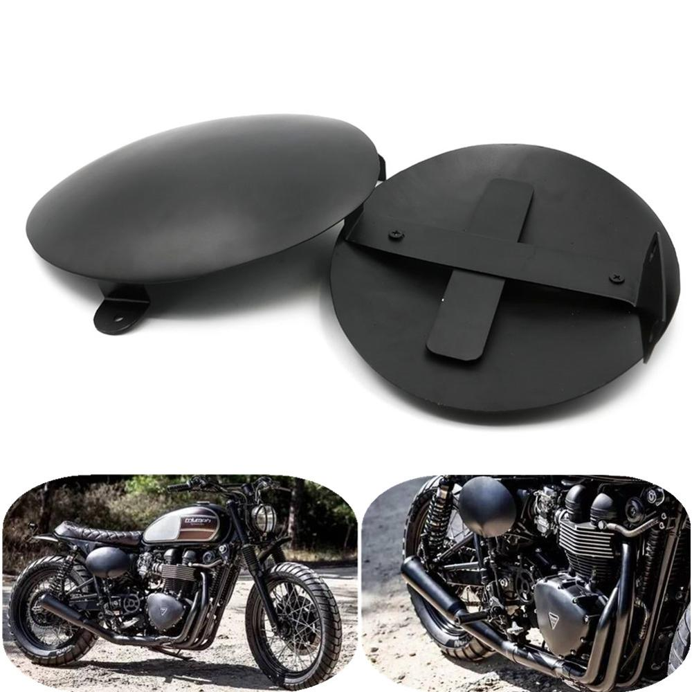 Motorcycle Battery Side Cover Fairing Protectors Frame Guard for Triumph BONNEVILLE T100 2006-2014 SCRAMBLER T900 06-14 xuankun cafe racer generations of motorcycle off the rail scrambler right side cover frame cover