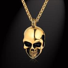 Панк золотой цвет Массивное колье для мужчин ожерелье из нержавеющей