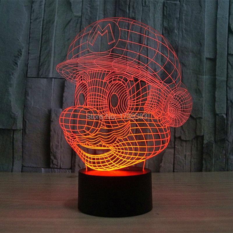 Free Shipping USB charging color changing Nintendo Cartoon Game 3D Super Mario LED Night Light of Multicolor night l&-in Night Lights from Lights ... & Free Shipping USB charging color changing Nintendo Cartoon Game 3D ... azcodes.com