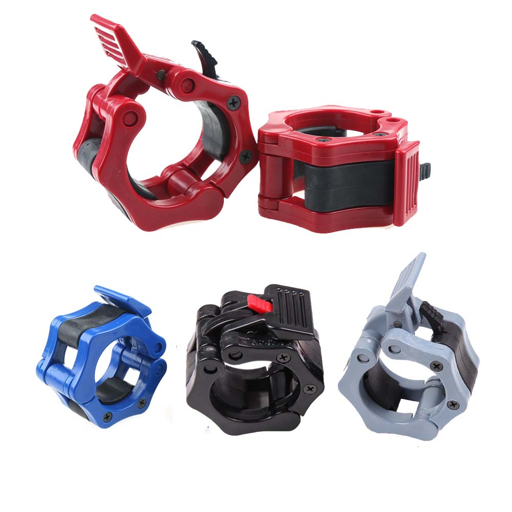 2PCS/Pair Quick Release 50mm Olympic Barbell Clamp Collar Lock for Pro Crossfit Training