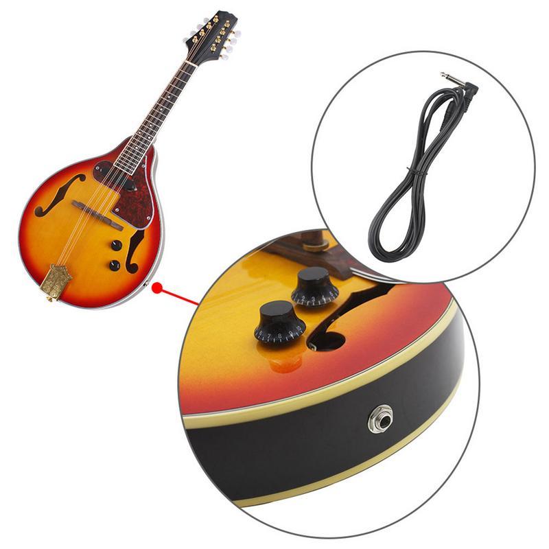Un Type hêtre boîte électrique acoustique-électrique mandoline Piano 8 cordes guitare musicale à cordes Instruments amoureux cadeau - 4