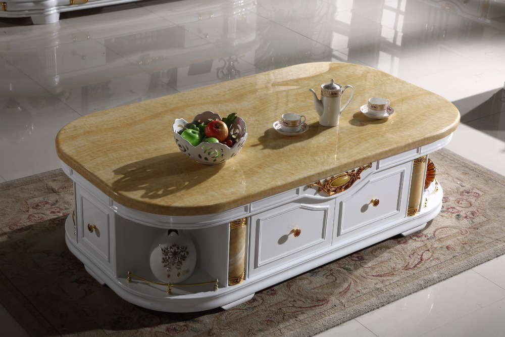 White Marble Coffee Table Rectangle White Marble