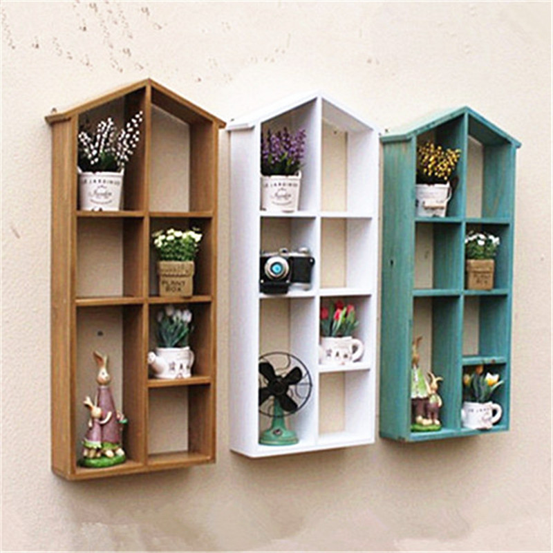 Large Solid Wood Wall Hanger Storage Holder Rack Wooden House Wall Shelf  Home Wooden Box Bathroom. Compare Prices on Wooden Bathroom Shelves  Online Shopping Buy Low