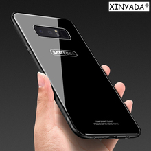 Xinyada Tempered Glass Case For Samsung Galaxy Note 8 Note8 Shell Luxury Hybrid Back Cover Shockproof Sleeve Housing