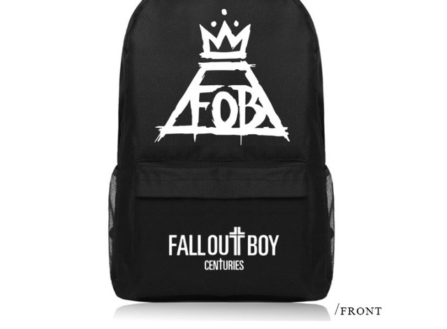 5331bd8415 ... Anime Fall Out Boy Backpack Middle High School Students Bookbag  Schoolbag (8) ...