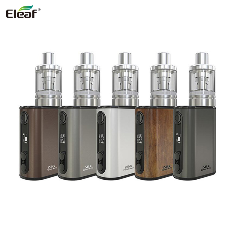 100% Original iSmoka Eleaf iStick Power Nano Kit med 2ml MELO 3 Nano Tank 1100mah Batteri Box Mod EC ECML Head