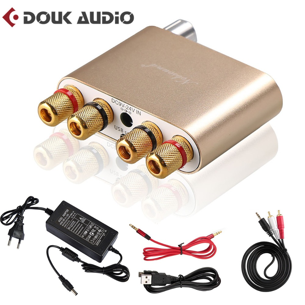 Nobsound TPA3116 Bluetooth 4.0 Mini HiFi Digital Amplifier StereoHome Audio Power Amp 100W Gold Color 2017 new nobsound hifi 100w mini tpa3116 bluetooth 4 0 digital amplifier amp power supply free shipping