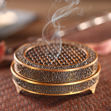 Pure copper incense burner rich flower antique plate tea ceremony aromatherapy sandalwood furnace