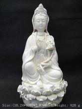 * / China dehua white porcelain goddess guanyin bodhisattva.