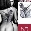 Mulheres de uma Peça de Alta Qualidade 3D Colorido Phoenix Fogo Lábio Manga Arte Do Corpo À Prova D' Água de Volta DIY Adesivos Glitter Tatuagens Temporárias