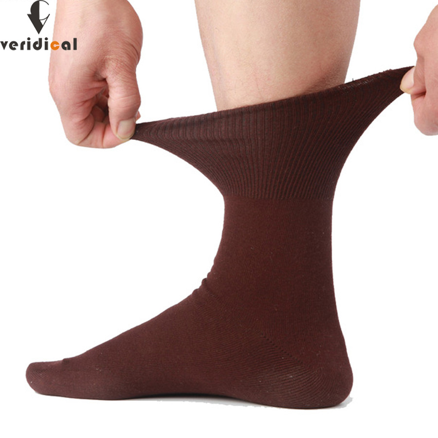 VERIDICAL 5 pairs/lot men   socks   cotton long good quality business harajuku Diabetic fluffy   socks   meias masculino calcetines