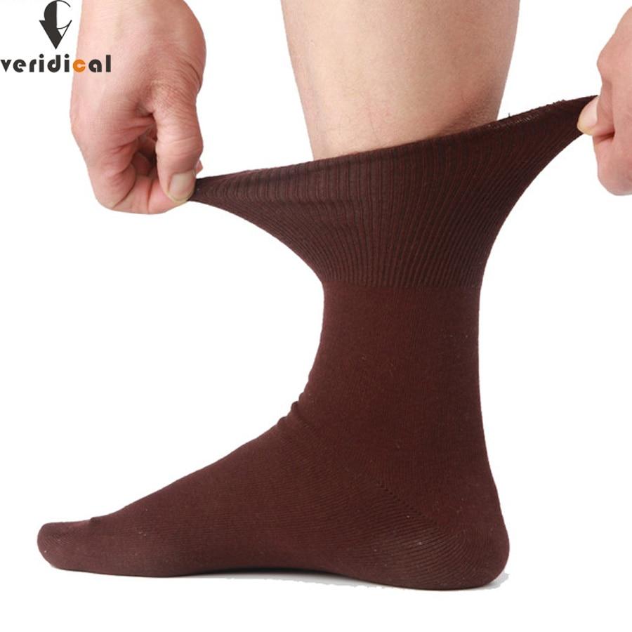 VERIDICAL 5 Pairs/lot Men Socks Cotton Long Good Quality Business Harajuku Diabetic Fluffy Socks Meias Masculino Calcetines