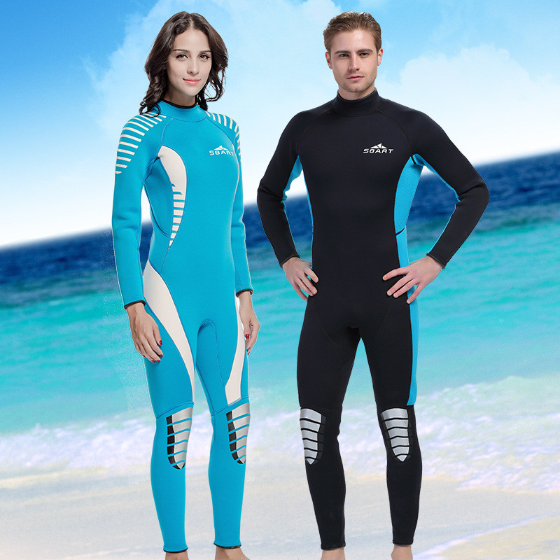 цена на Hot Sale Lovers' Winter Warm Swimwear Rash Guard Women Men Long Sleeve 3MM Neoprene Snorkeling Diving Suits One Piece Wetsuit