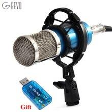 BM 800 конденсаторный микрофон для компьютера проводной профессиональный микрофон 3.5 мм кабель микрофон с амортизатором BM-800 для установки для компьютера караоке записи KTV  для студии радиовещания озвучивания