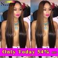 Light Brown Malaysian Virgin Hair Straight 3pcs Malaysia Hair 2# 4# Dark Brown Human Hair Weave Orange Meches Bresilienne Lots