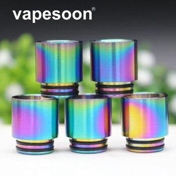 VapeSoon  810 Rainbow SS Drip Tip For TFV8 BIG BABY/TFV12 Prince Atomizer TANK etc 30PCS/lot