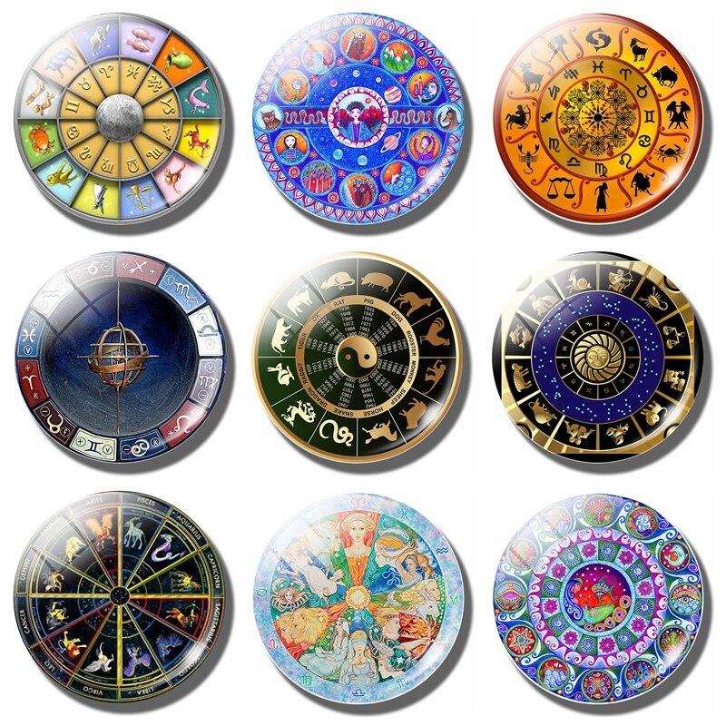 Aliexpress Com Buy 12 Zodiac Signs Constellation: Aliexpress.com : Buy 12 Constellations 30 MM Fridge Magnet