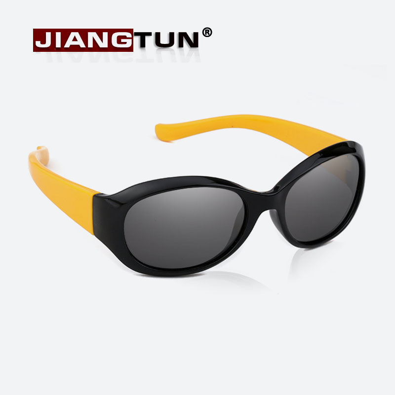 JIANGTUN Top Quality Baby Boys Girls Fashion Brand Kids Sunglasses Fit 3-12 Year TR90 Polarized Children Glasses Fashion Oculos sunrun 2016 high quality baby girls brand kids sunglasses tr90 polarized children glasses 100%uv oculos de sol gafas s860