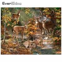 EverShine Diamant Stickerei Volle Bohrer Runde Tiere Deer Bilder Von Strass 5D Diamant Malerei Neue Ankünfte Manuelle Hobby