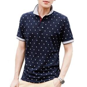 Mountainskin الرجال قمم الصيف 100% القطن قمصان مطبوعة الماركات قصيرة الأكمام Camisas الوقوف طوق الذكور قميص 5XL EDA377
