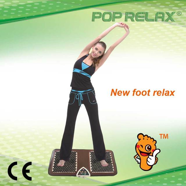 POP RELAX PR-F01B new flatfoot relax acupressure massage mat smiler with NUGA BEST NM-55