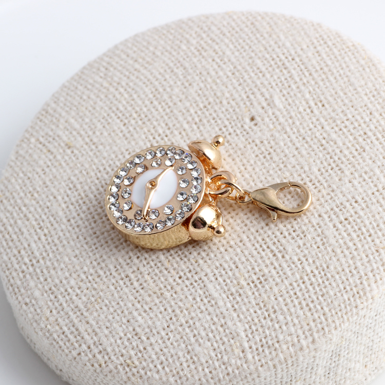 3520mm gold color crystal alarm clock charms pendant for jewelry 3520mm gold color crystal alarm clock charms pendant for jewelry making charms for floating locket diy bracelet findings in charms from jewelry aloadofball Images
