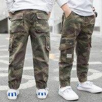 Boys Pants Children Camouflage Pants Kids Elastic Waist Solid Full Length Pencil Pants Spring New