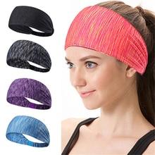 Elastic Sport Headband Fitness Yoga Sweatband Outdoor Gym Running Tennis Basketball Wide Hair Bands Athletic Men Women недорого