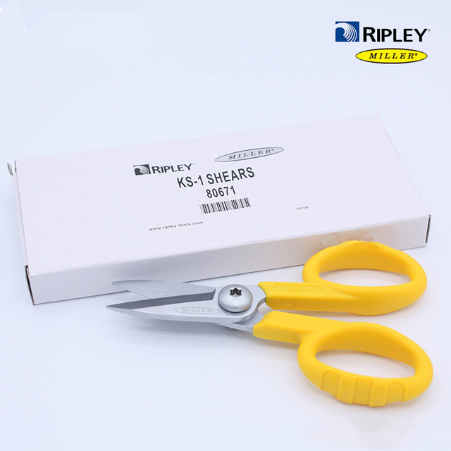 Rifinitore per utensili a fibra ottica Miller KS 1 cesoie in Kevlar/forbice a forbice/taglierina Kavalr, cesoie per KS 1 Miller spedizione gratuita