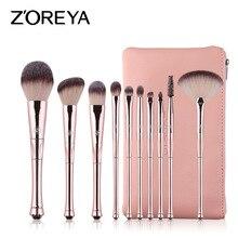 ZOREYA10 Makeup Brush Set Makeup Brush Powder Brow Powder Blush Cosmetic Set Professional Makeup Makeup Tools все цены