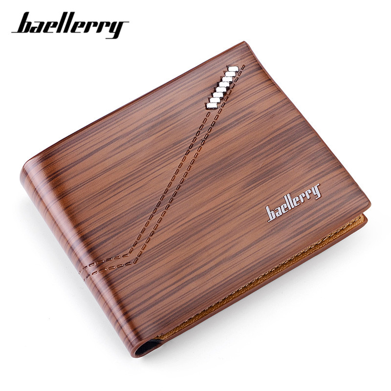 Baellerry New Casual Business Small Wallets For Men Soft Leather Card Holder Male Short Man Wallet Purses Homens Carteira hot sale leather men s wallets famous brand casual short purses male small wallets cash card holder high quality money bags 2017