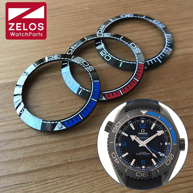 Insert para Omg Cerâmica Bezel Omega Seamaster Manl Relógio Automático Peças 215.92.46.22