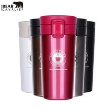 BearCavalier neue Japanischen stil kaffee thermoskanne kaffeetasse mit deckel tassen und becher isolierflasche thermoskanne kaffeetasse topf Reise becher