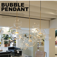 Northern Designer Bubble Glass Dining Room Pendant Light Livingroom Bedroom Decoration Lamp Cafe Led Bubble Lights