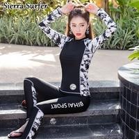 Rash Guard Women Rashguard Female Windsurf Windsurfing Korea Bikini Top Plus Size Swimwear 2018 New Korean Three Piece Set S