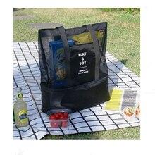 Большая Сумка-переноска для еды сумки для женщин детская плечевая сумка двойная сумка для пикника с ручной коносамент