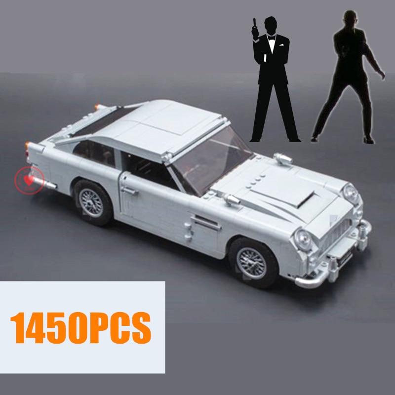 NEW Technic James Bond fit technic Racing car Model kits set Building Blocks Bricks DB5 Model