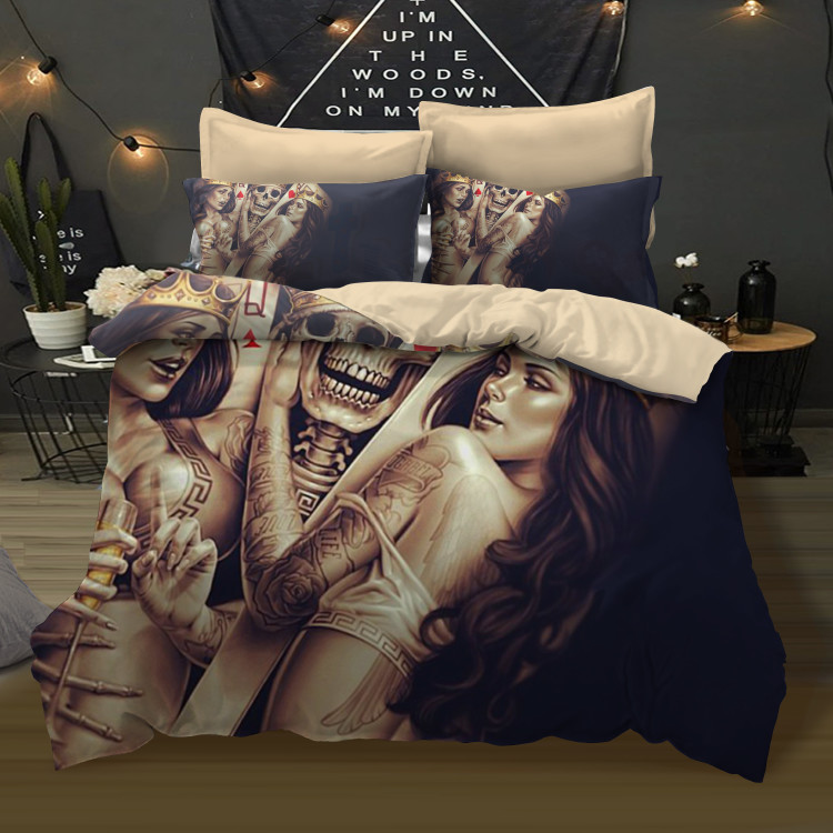 Fanaijia 3D sugar skull Bedding Set queen skull duvet cover sets for king pillowcase  AU Queen Bed bedlineFanaijia 3D sugar skull Bedding Set queen skull duvet cover sets for king pillowcase  AU Queen Bed bedline