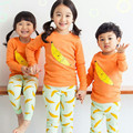 Boys Clothing Set Cotton Kids Clothes autumn Children Clothing Set for Boys Pajamas Suits Banana T shirts + pants Brand 2016