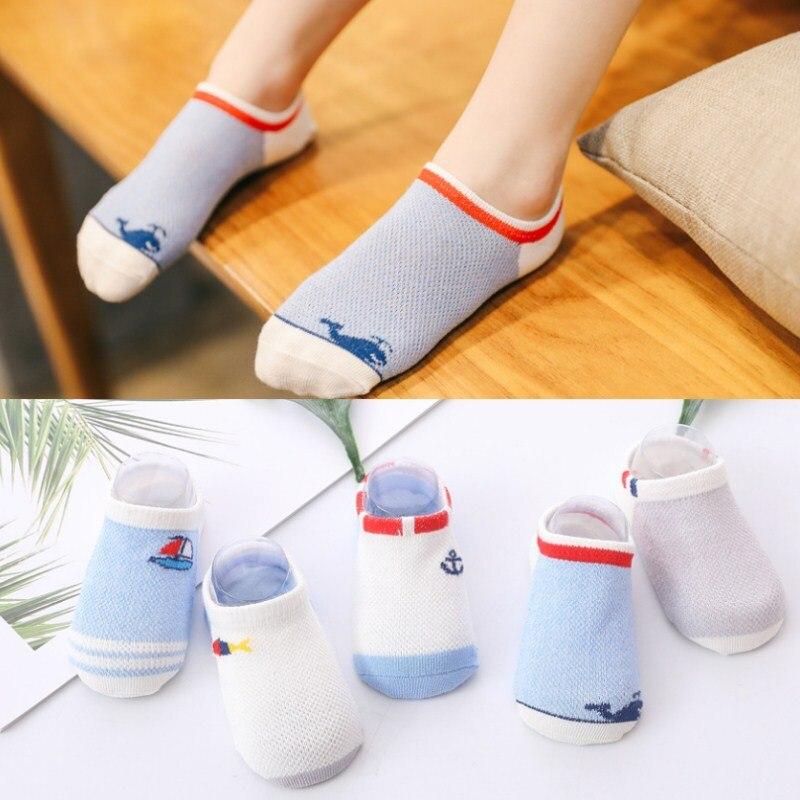 Socken, Strumpfhosen & Leggings 10 Stück = 5 Paare/los Baby Socken Sehr Dünne Atmungsaktive Baumwolle Socken Candy Farben Silikon Boden Socken Unsichtbare Boot Socken