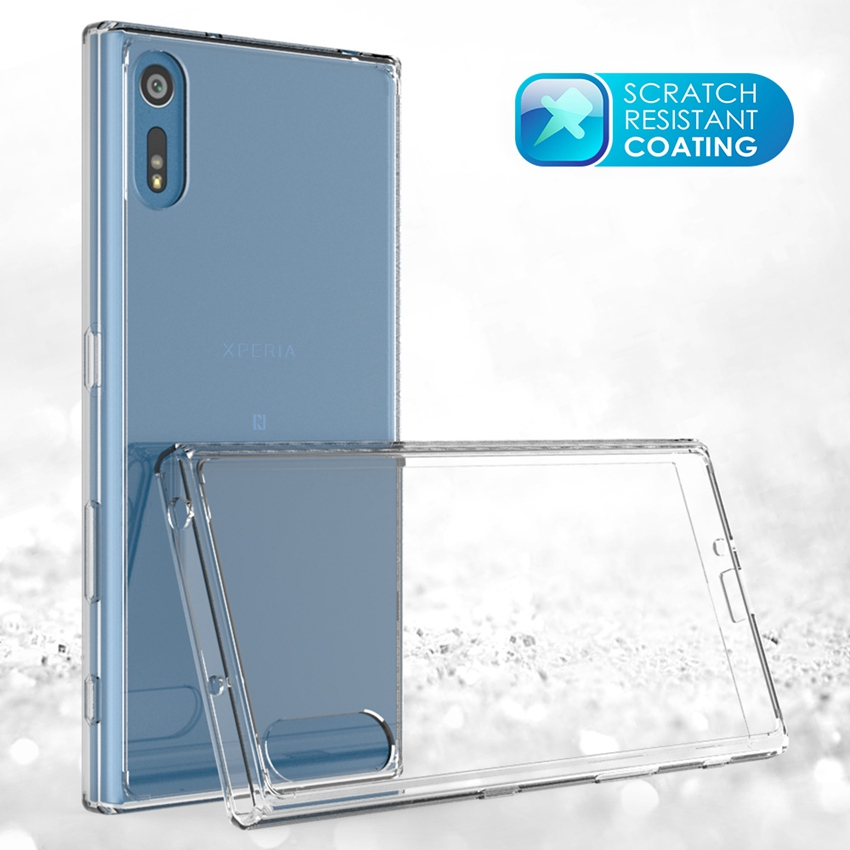 4 colores de protección Fundas Coque Transparetn Air Cushion Case Crystal Clear Back Shell máscara a prueba de golpes para Sony Xperia XZ / XR
