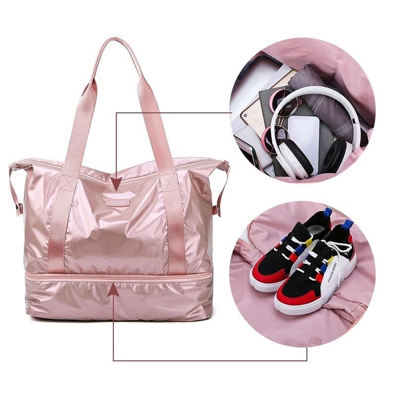 f879d0afb418 US $17.23 29% OFF|Waterproof Gym Fitness Sports Training Bag Dry Wet  Separation Yoga Bag Multifunction Travel Handbags Large Capacity Shoulder  Bag-in ...