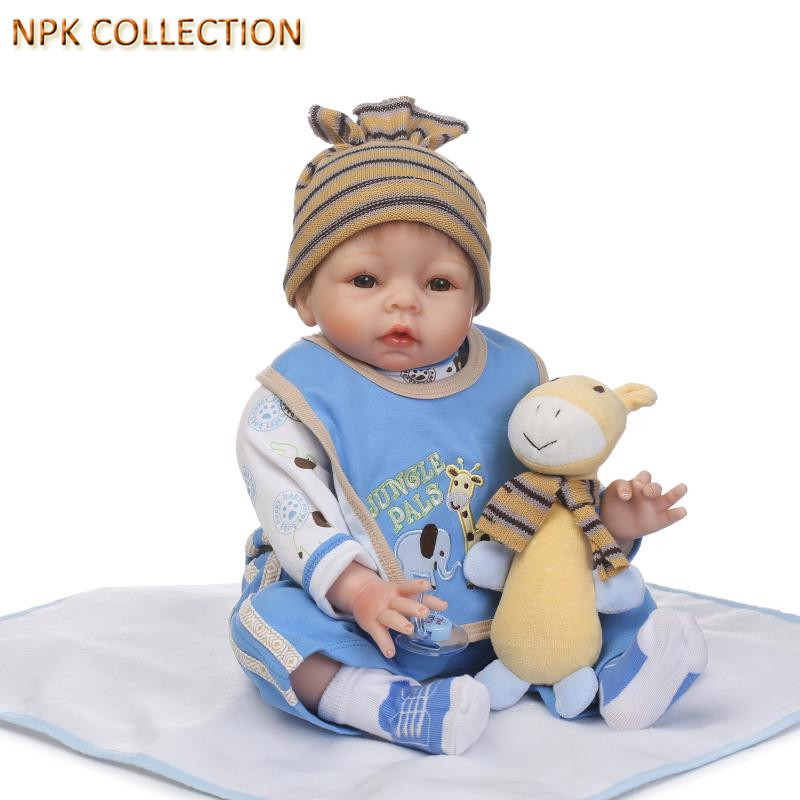 NPKCOLLECTION 50CM Real Dolls Silicone Reborn Dolls Baby Alive Soft Toys for Children Gift,20 Inch Silicone Newborn Dolls Reborn 22 inch soft body silicone toddler reborn baby dolls real alive newborn baby dolls toy gift for girls christmas new year gifts